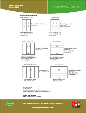 General impact sliding glass door high impact series sliding glass door available sizes and configurations planetlyrics Gallery
